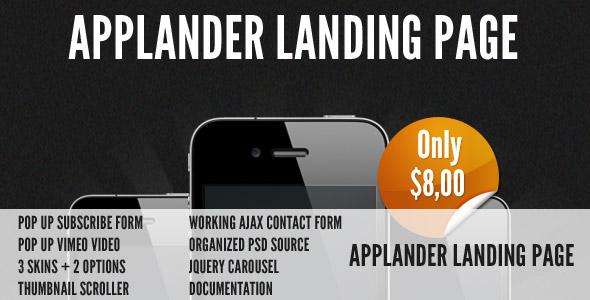 Applander - App Landing Page