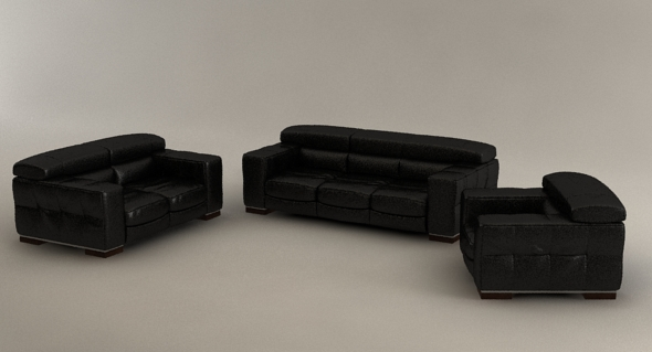 3D Models - Natuzzi three set, living room furniture | 3DOcean