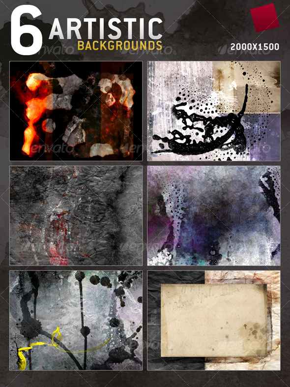 GraphicRiver 6 Artistic Textures Backgrounds 76162