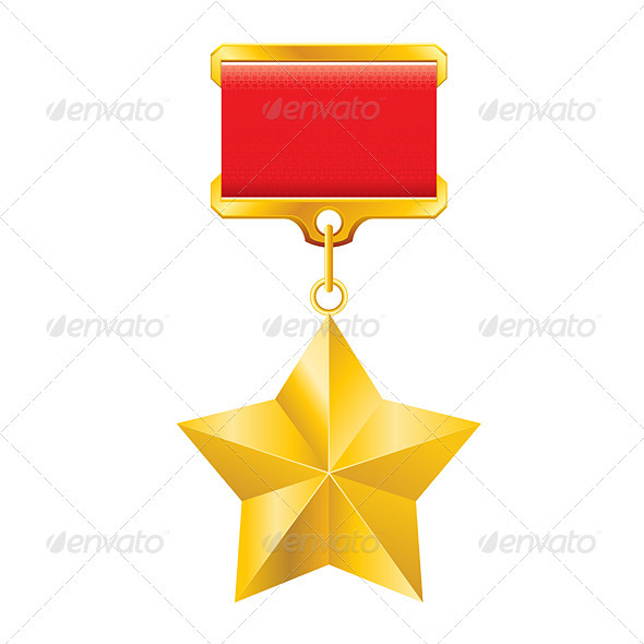 Gold star award - Decorative Vectors