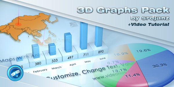 After Effects Project - VideoHive 3D Graphs Pack 237077