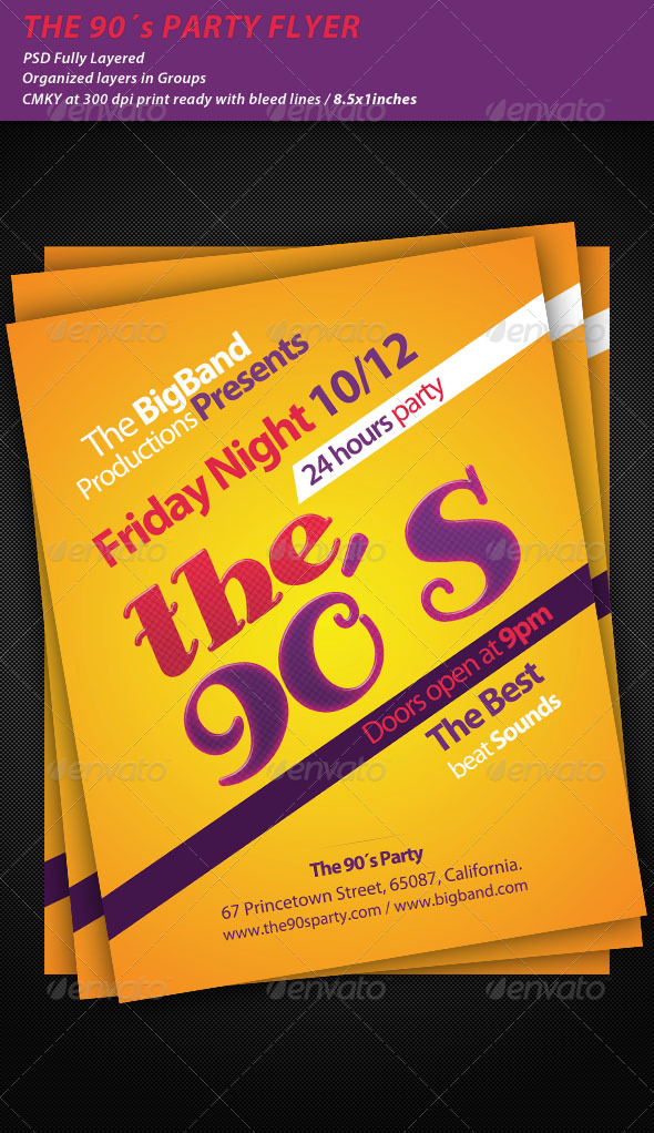 GraphicRiver The 90's Party Flyer 237099