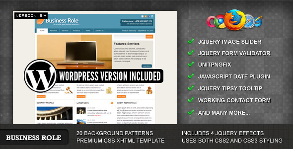 ThemeForest Business Role Template 48513