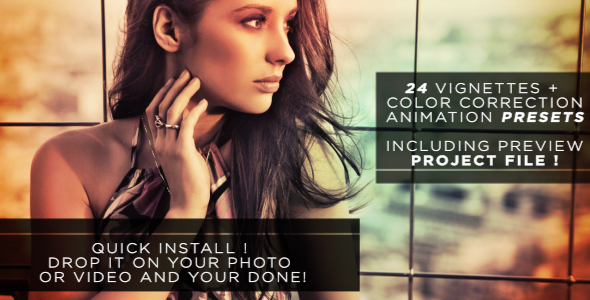 VideoHive Easy Vignette & Color Correction Pack 237188