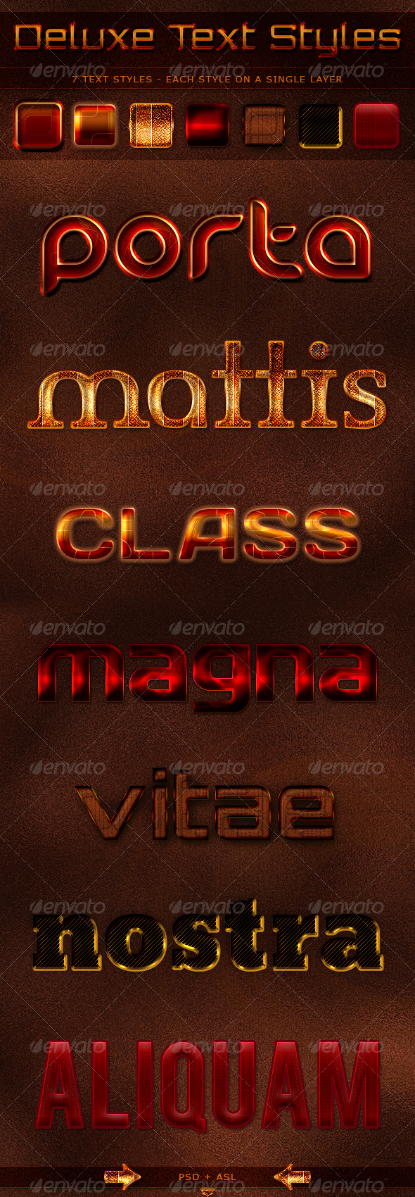 Deluxe Text Styles - Text Effects Styles