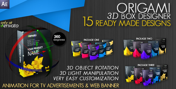 After Effects Project - VideoHive Origami 3D Box Maker 237407