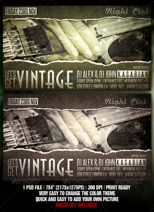 GraphicRiver Vintage Flyer Design 919125