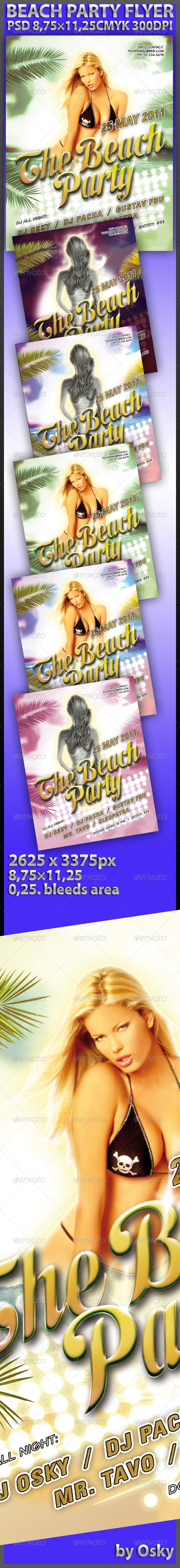 GraphicRiver Beach Party Flyer 237535