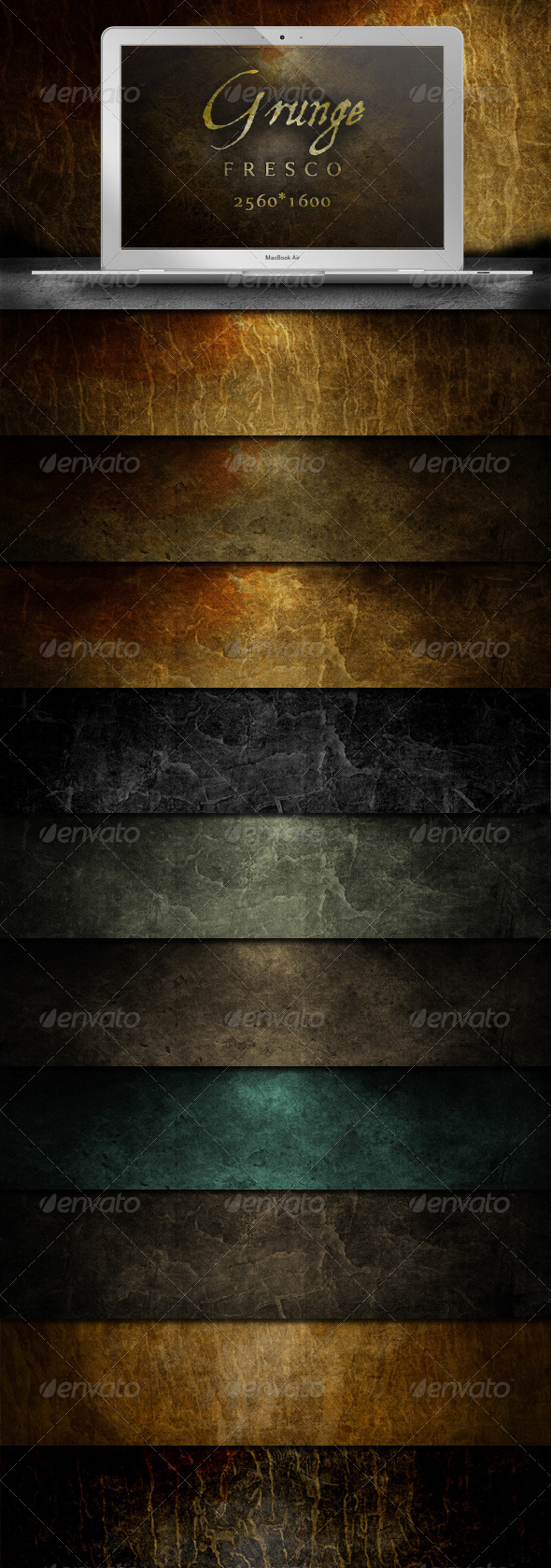 Grunge Fresco Backgrounds - Atmospheric Decay - Backgrounds Graphics