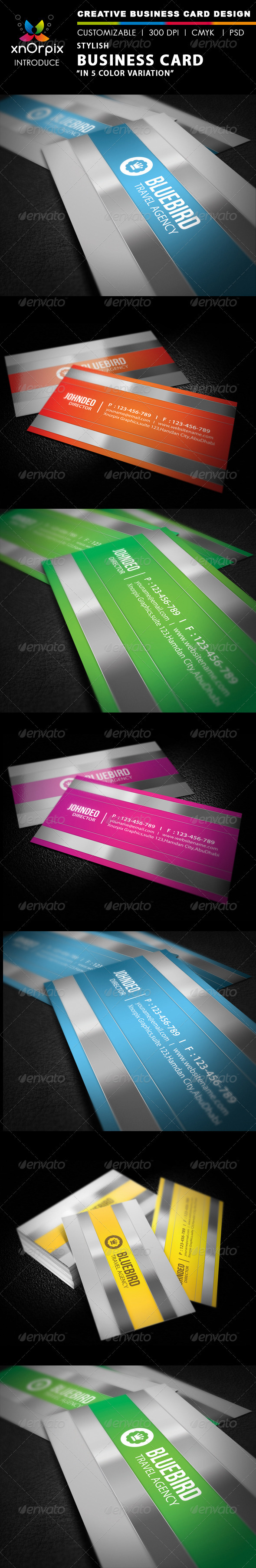 GraphicRiver Stylish Business Card 2044848