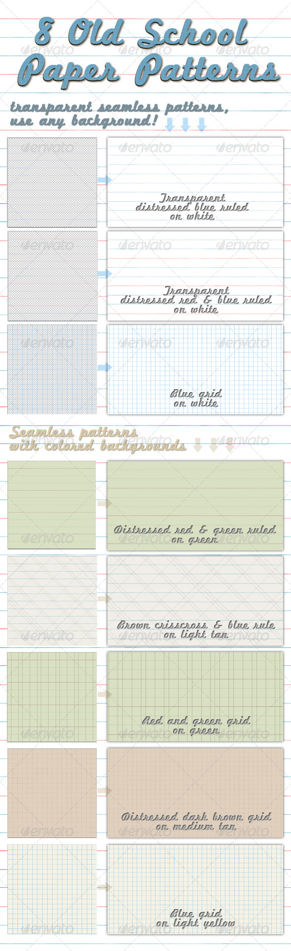 GraphicRiver Old School Paper Patterns 237615