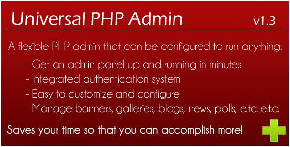 CodeCanyon Universal PHP Admin 146218