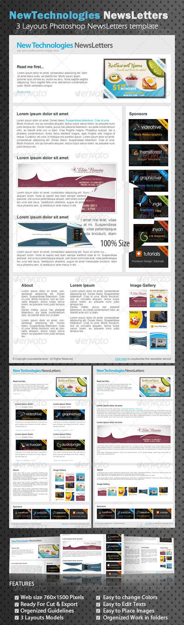 Professional marketing E-newsletters - E-newsletters Web Elements