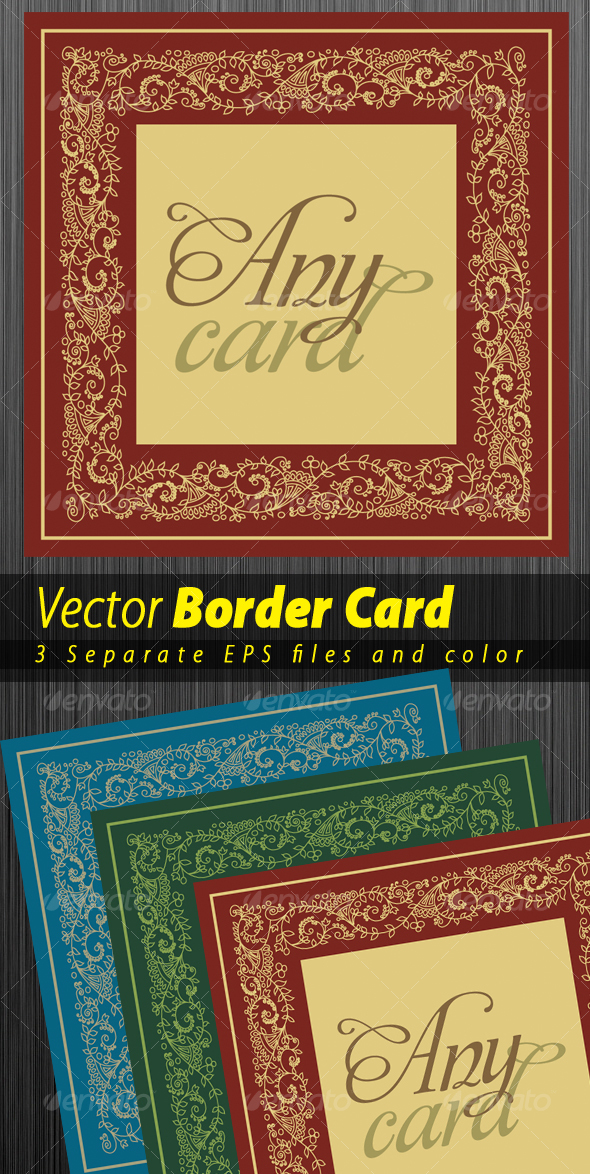 Border Desing for any type of card