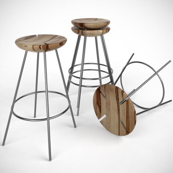 Tribo Bar Stool - 3DOcean Item for Sale