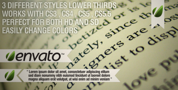 After Effects Project - VideoHive Bookmark Lower Thirds 2046338