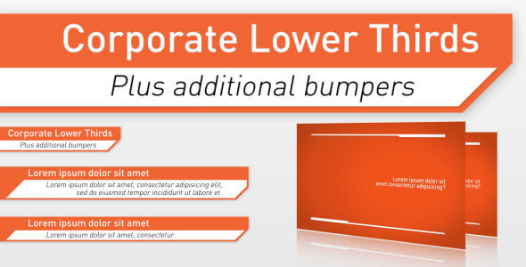 After Effects Project - VideoHive Corporate Lower Thirds & Bumpers 2046586