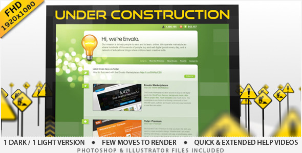 After Effects Project - VideoHive Under Construction Site 2023957