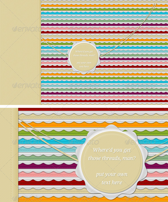 GraphicRiver Stitch Mania 2 Desktop Wallpapers 237898