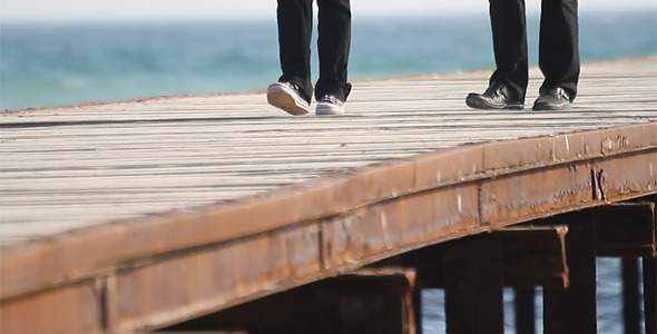 Walking On The Pier