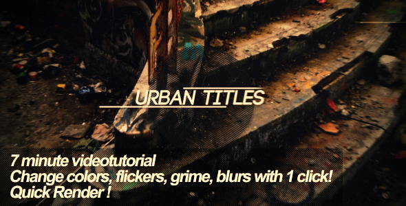 After Effects Project - VideoHive Urban Titles 2049142