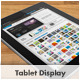 Tablet Display Template (Hi-Res Smart Object) - GraphicRiver Item for Sale