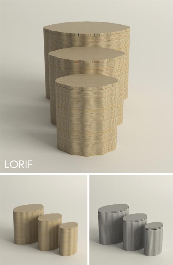 Punkalive Karjala stool - 3DOcean Item for Sale