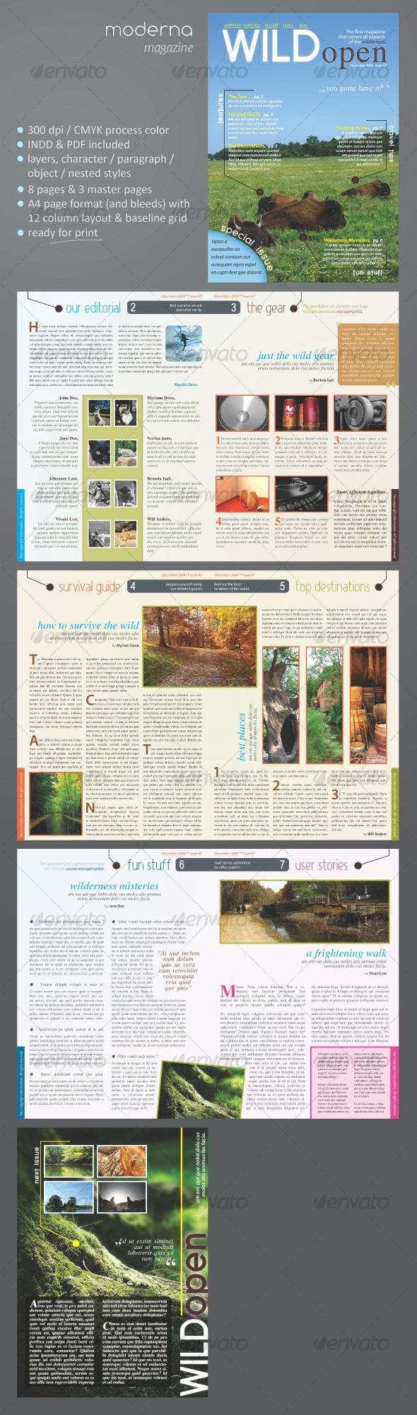 Moderna Magazine - Magazines Print Templates