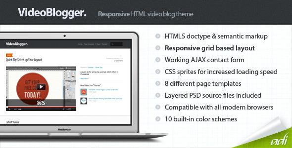 VideoBlogger - Responsive HTML Video Blog Theme - VideoBlogger - Video Blog HTML Template