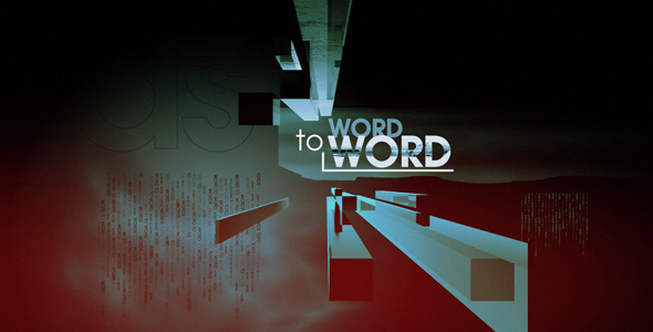 VideoHive Word to Word 2026499