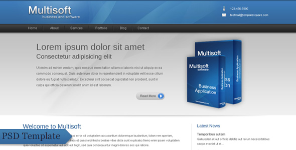 Multisoft - Bussiness and Software Clean Template