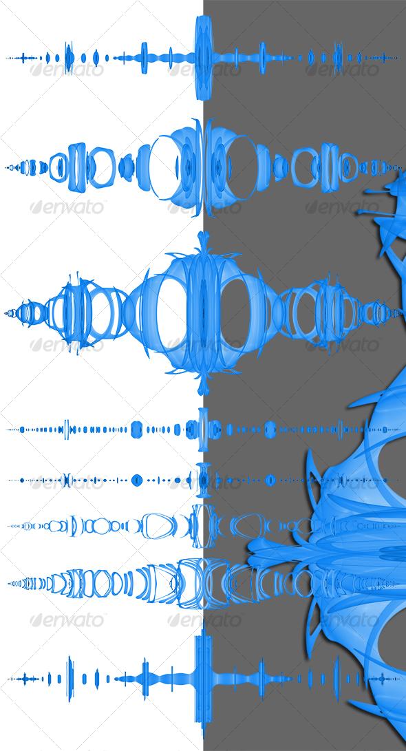 Graphic River Fantasy paragraph dividers Graphics -  Decorative  Borders 78205