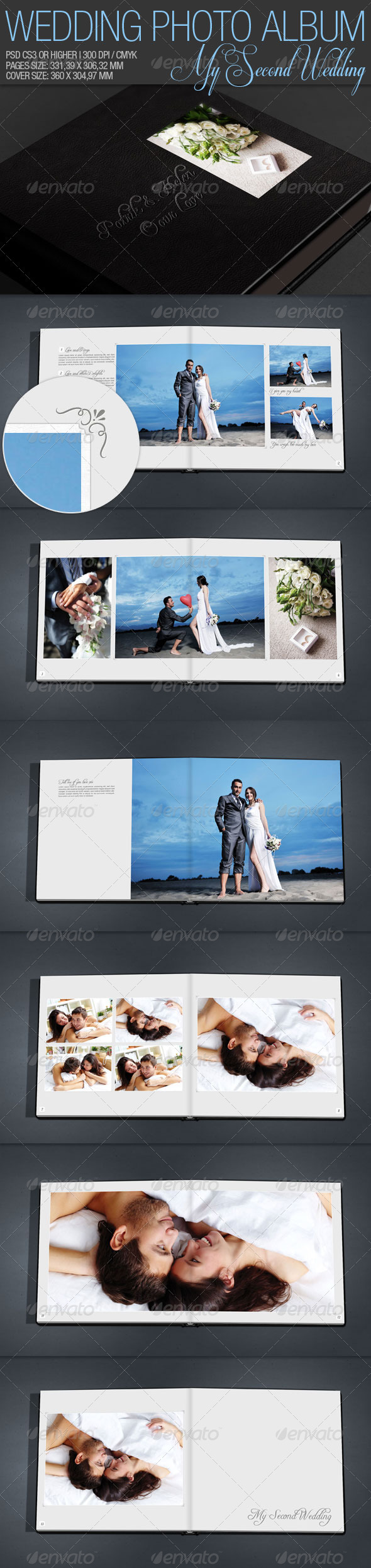 Wedding Photo Album 02 - Miscellaneous Print Templates