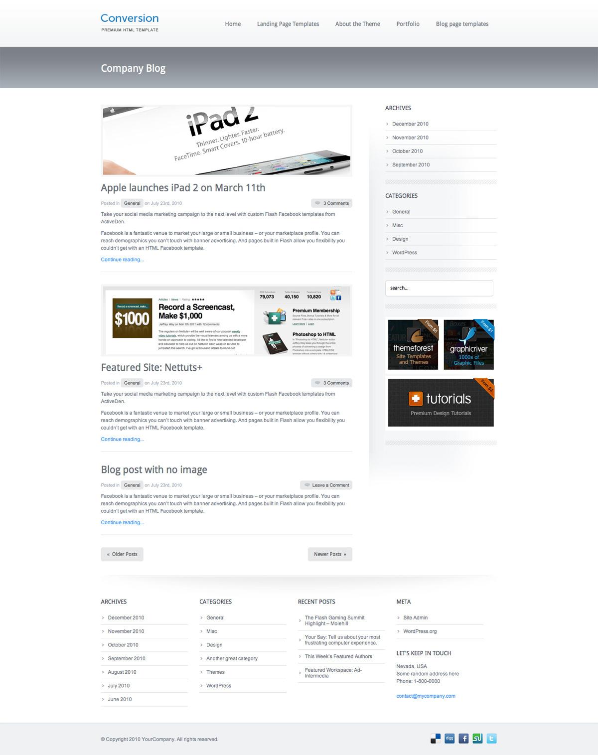 Conversion - Premium HTML Template - Conversion - Premium HTML Template