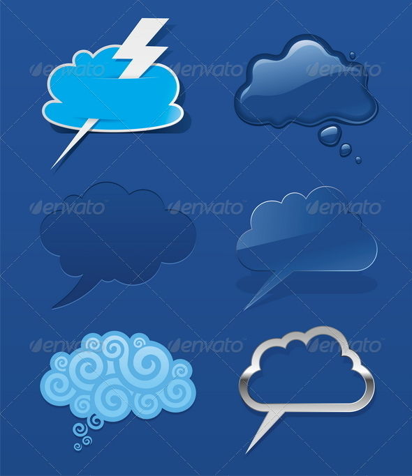 Vector Set of Speech Clouds