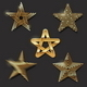 Download Vector Set of Golden Decorative Stars