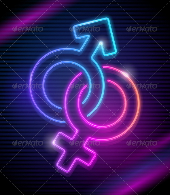 GraphicRiver Venus and Mars Neon Sings 2060672