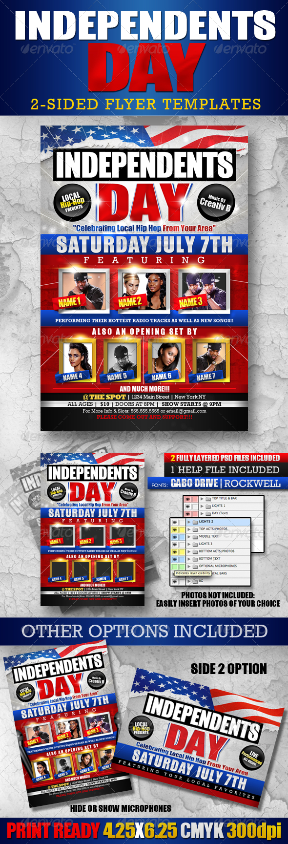 GraphicRiver Independents Day Flyer Templates 2026426