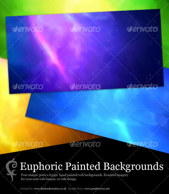 GraphicRiver Euphoric Painted Web Backgrounds 77225