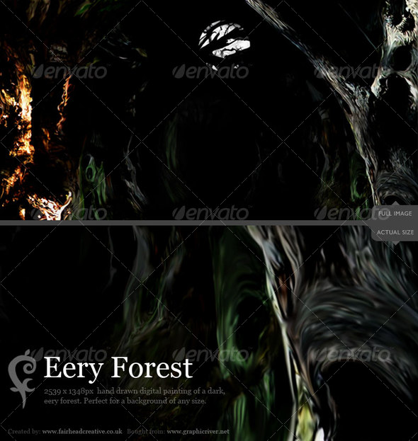 GraphicRiver Eery Forest 75633