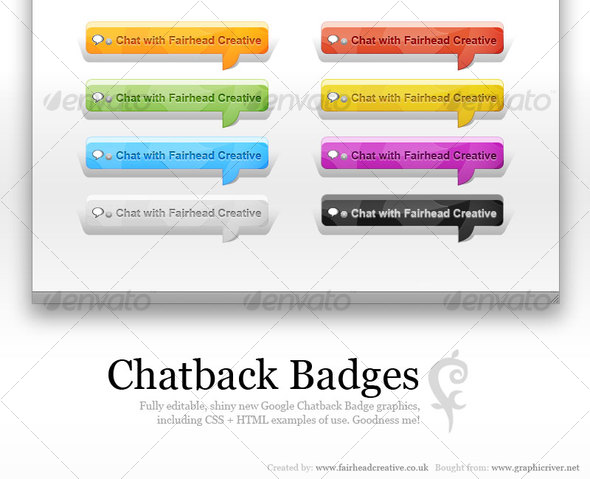GraphicRiver Chatback Badges 70627