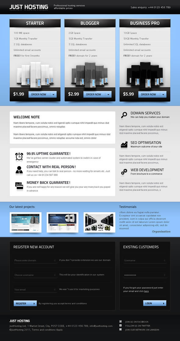 ThemeForest Just Hosting 408834