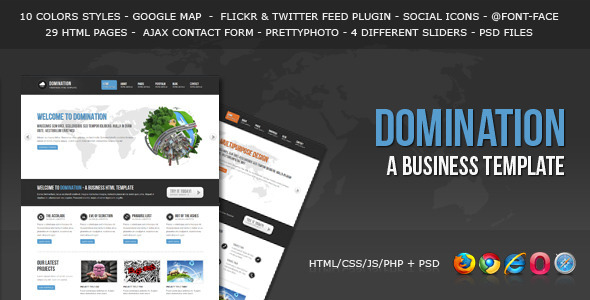 ThemeForest Domination a Business HTML Template 2037446