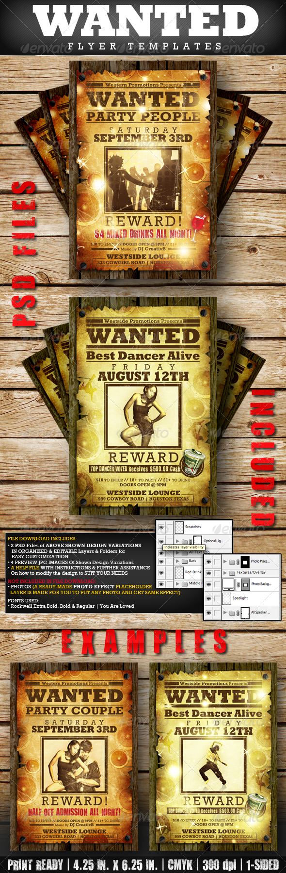 WANTED Flyer Templates