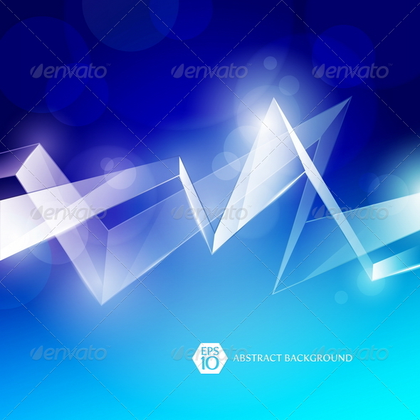 Abstract Background With Glass Elements