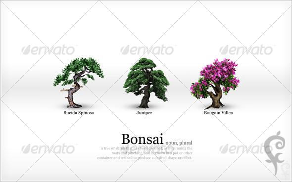 GraphicRiver Bonsai Wallpaper 49174