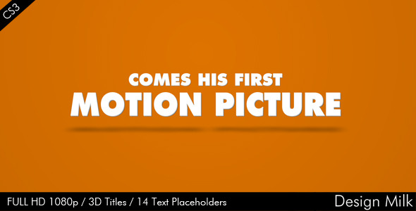 After Effects Project - VideoHive 3D Titles 2066878