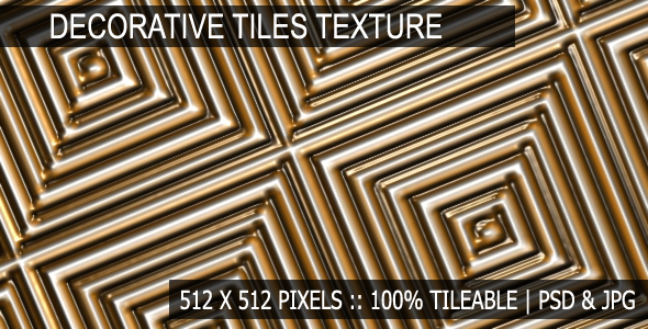 Decorative Tiles Texture - 3DOcean Item for Sale