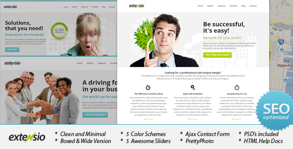 ThemeForest Extensio Elegant and Minimal Business Template 2062444
