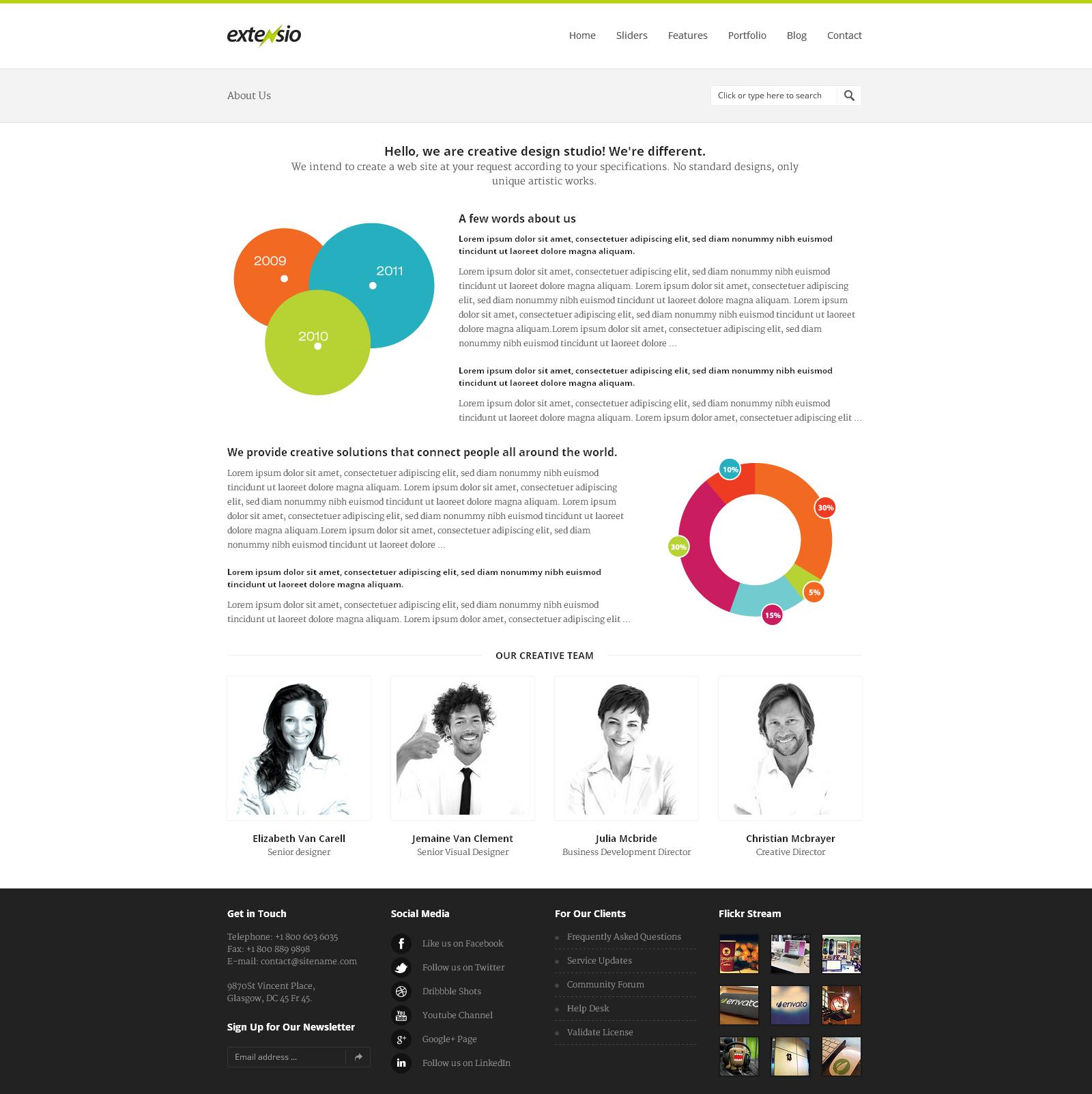 Extensio - Elegant and Minimal Business Template